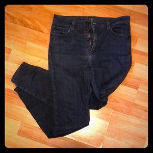 Just Black Dark Wash Skinny Jeans